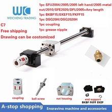 Ball Screw SFU2004/SFU2005/RM2005 metal nut/2005 left hand/SFU2010/SFE2020/DFU2005 lead 4/5/10/20mm C7 End Machined CNC parts