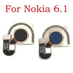 Czytnik linii papilarnych przycisk powrotu do domu przycisk Menu Flex Ribbon Cable dla Nokia 6 2018 6.1 5.5 cala