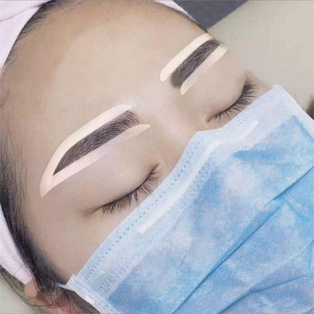 Newly 6 Pair Disposable Eyebrow Tattoo Shaping Auxiliary Sticker Templates Eyebrow Stencil CTN88