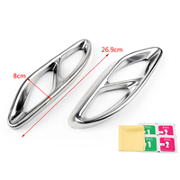 Areyourshop 1PAIR Rear Dual Exhaust Pipe Stickers Cover Trims For BMW F18/F10 535LI 550Li 2017 Exhaust Pipe Trim Car Parts