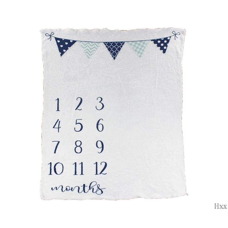 New Baby Month Blanket Photo Background Cloth Infants Wrap Towel Flannel Milestone Photography Blankets