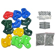 10Pcs Mixed Color Rock Climbing Wall Stones Climbing Frame Outdoor Assorted Hand Feet Holds Grip Gymnastic Fitness Hardware Toys