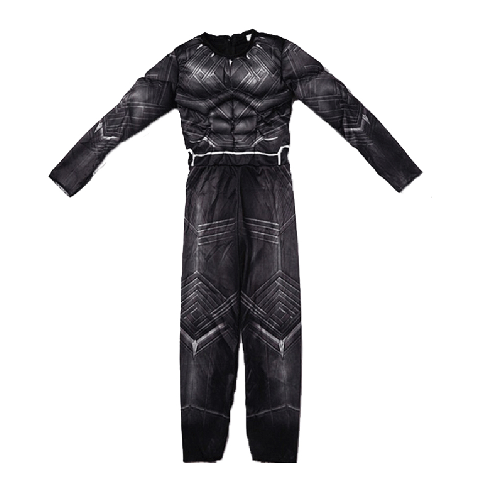 Halloween Superhero Black Muscle Panther Cosplay Kids Child Boy's Costume Jumpsuit Bodysuit Cosplay Costume Outfit Dress Up 3