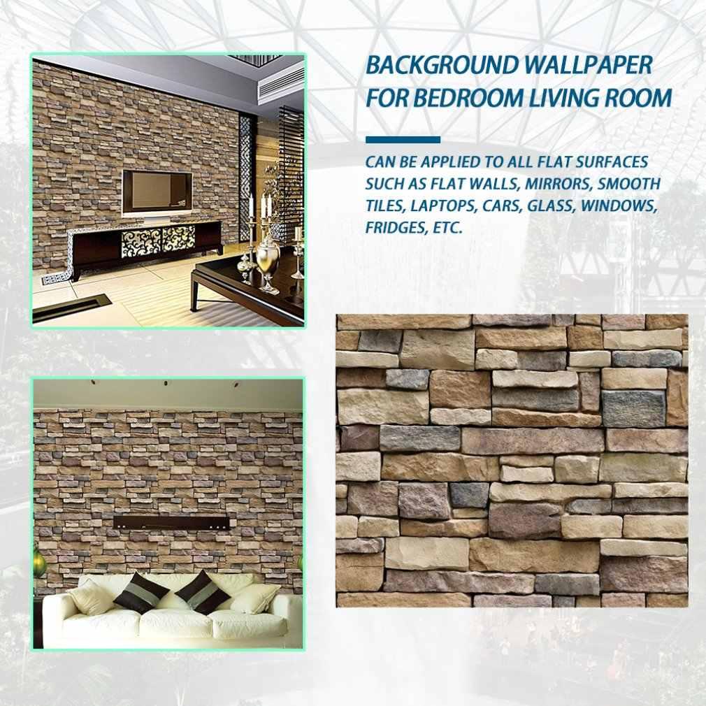 45CM X 1M 3D Batu Bata Wallpaper Dapat Dilepas PVC Stiker Dinding Dekorasi Rumah Seni Kertas Dinding untuk Kamar Tidur ruang Tamu Latar Belakang Stiker