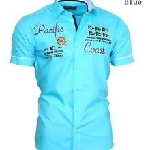 ZOGAA Men's Casual Shirt Summer Short Sleeve Dress Shirt Cot