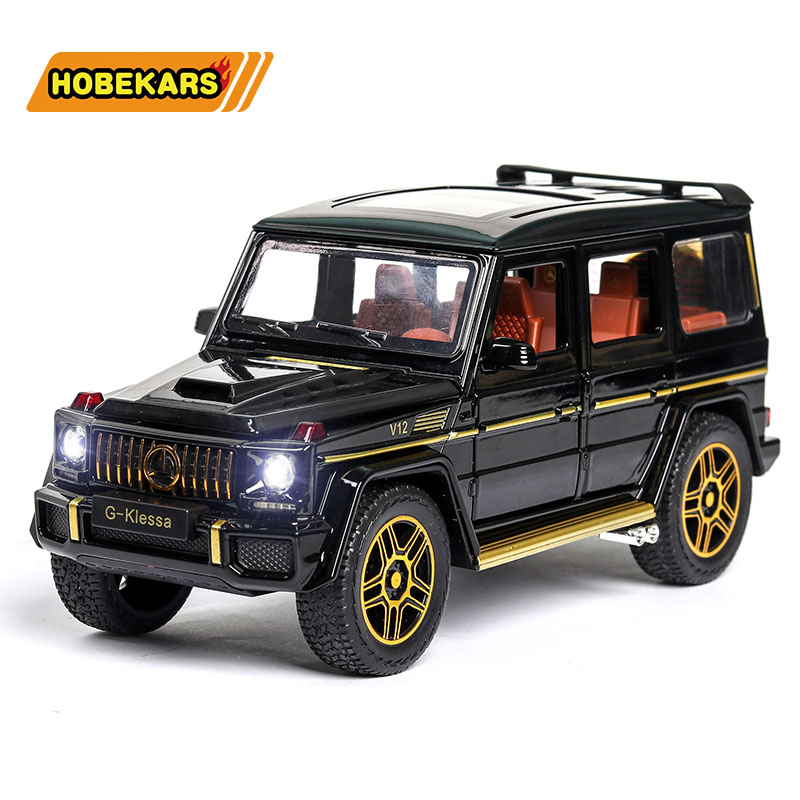 Model Car 1:24 G63 SUV Car Gold Diecasts & Toy Vehicles Metal Alloy Simulation Pull Back Cars Toys For Kids Gifts For Children