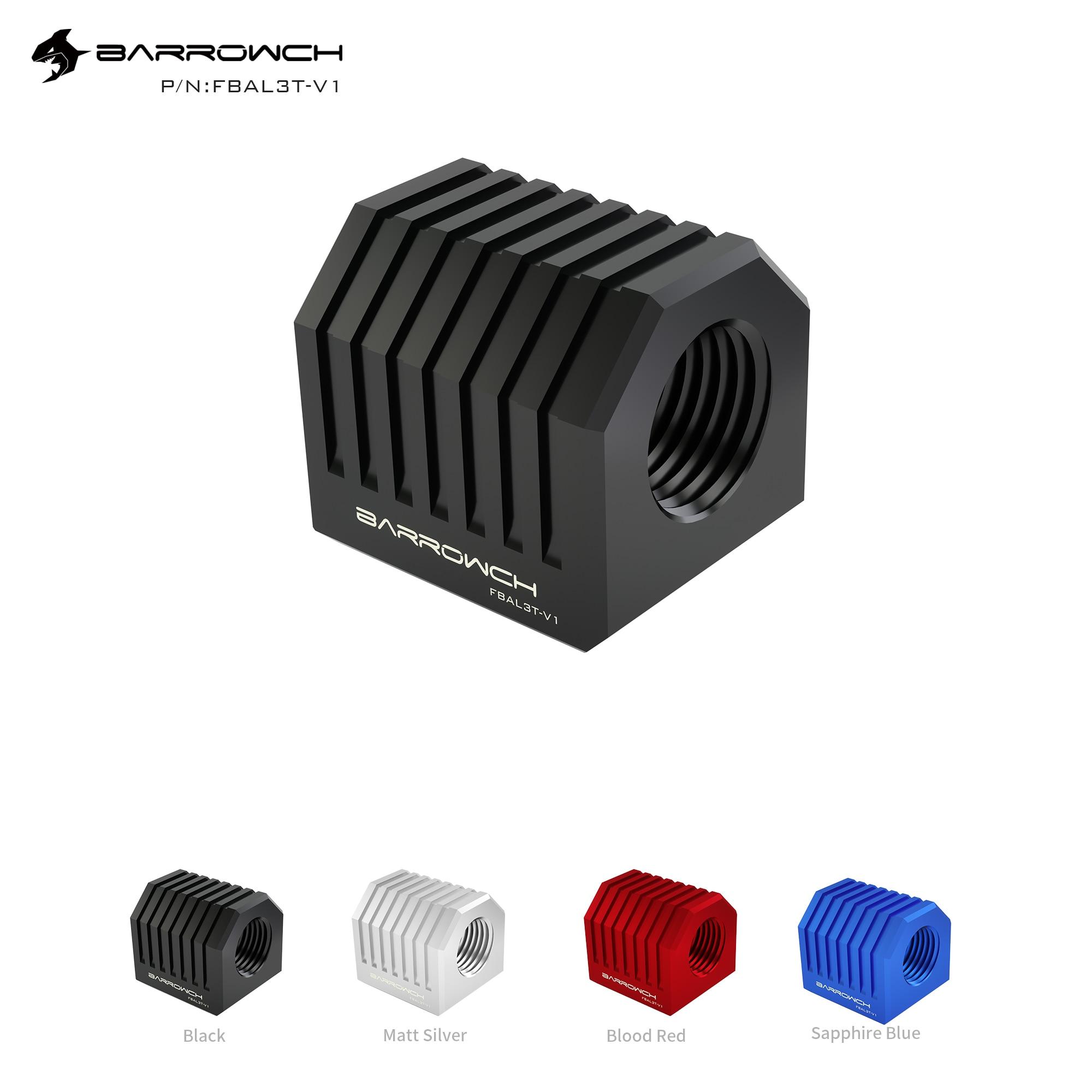 Barrowch  Aluminium alloy Cube Adaptor - 3Way G1/4 X3 Red/Black/Silver/blue FBAL3T-V1