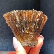 Натуральный Желтый Янтарный кальцит, необработанный камень, кристалл, минеральные образцы, домашний декор