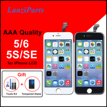 AAA תצוגה עבור iPhone 5 5S 5C SE 6 LCD מסך Digitizer עצרת לא מת פיקסל עבור iPhone 6 LCD