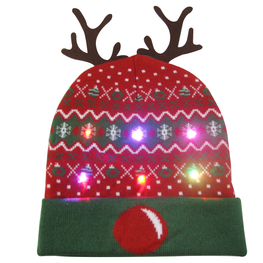 Г., 43 дизайна, светодиодный Рождественский головной убор, Шапка-бини, Рождественский Санта-светильник, вязаная шапка для детей и взрослых, для рождественской вечеринки - Цвет: 43