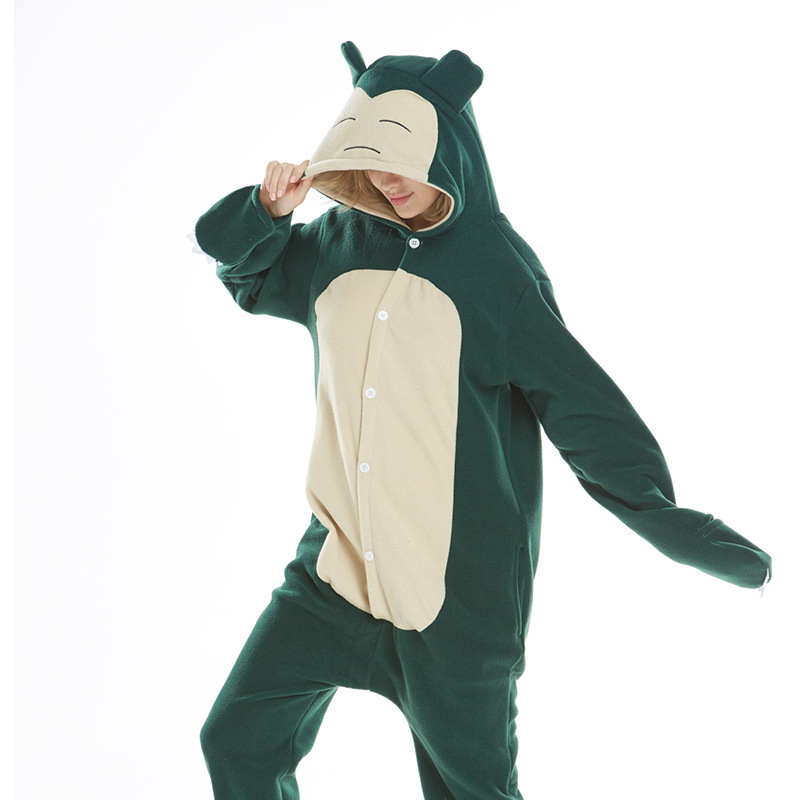 Ybyifs Anime Snorlax Cosplay Disfraz beb/é ni/ño ni/ña Halloween Pijamas 1-3 a/ños ni/ños Chico Kawaii Lindo Mono con Cremallera