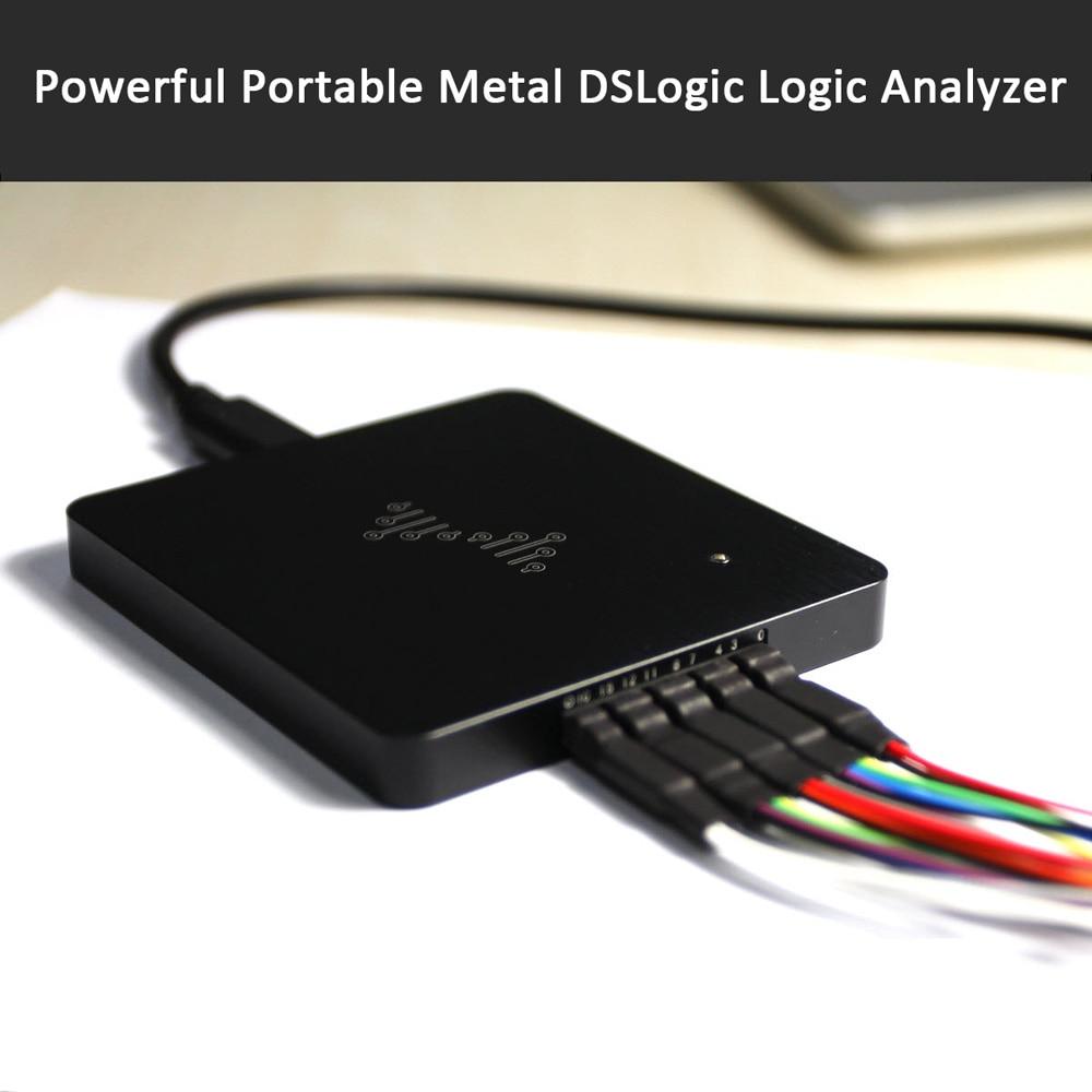 Analyseur de logique basé sur USB analyseur de logique DSLogic en métal Portable puissant 4 canaux/400 MHZ 8 canaux/200 MHZ 16 canaux/100 MHZ