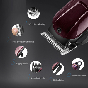 Image 5 - Electric Hair Trimmer Beard Powerful Cordless Professional hair Clipper Shaver Hair Cutting Machine 3/6/10/13mm Limit Comb