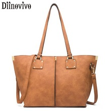 DIINOVIVO Large Capacity Tote Bags For Women Handbag Vintage Sequined Design Shoulder Crossbody Zipper Bag Female WHDV1240