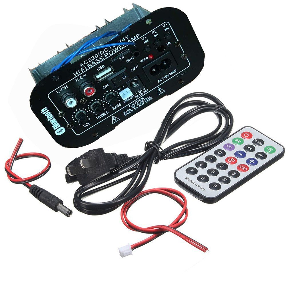 Amplifier Power-Amp Hifi Stereo Car for Car-Home-Accessories Multi-Functional Bass Remote