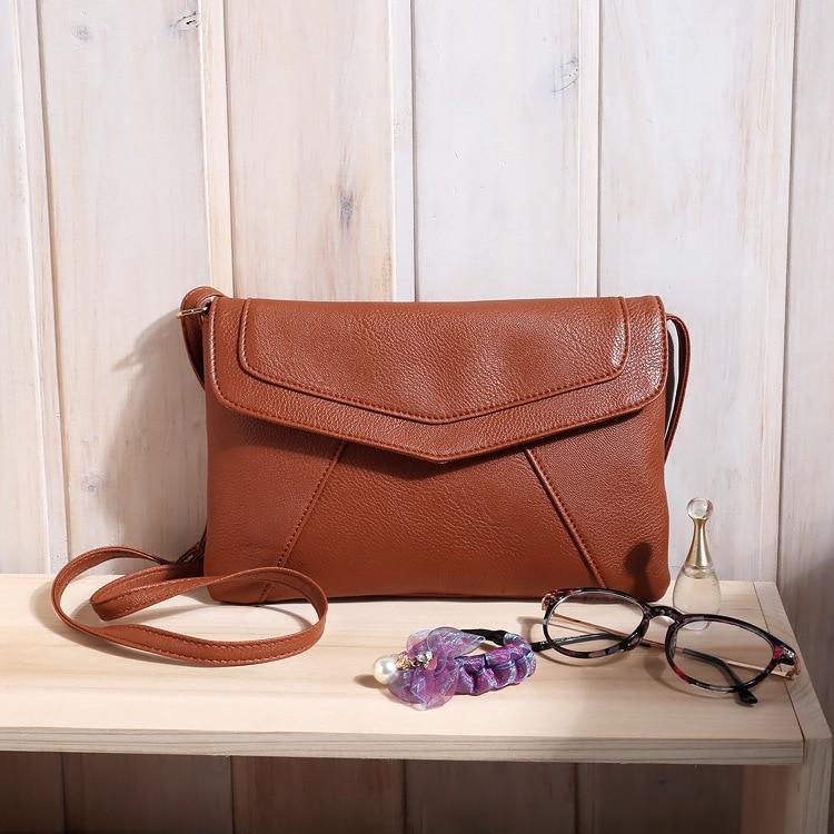 Маленькие сумки для женщин сумки-мессенджеры кожаные женские Newarrive милые сумки через плечо винтажные кожаные сумки Bolsa Feminina - Цвет: Brown