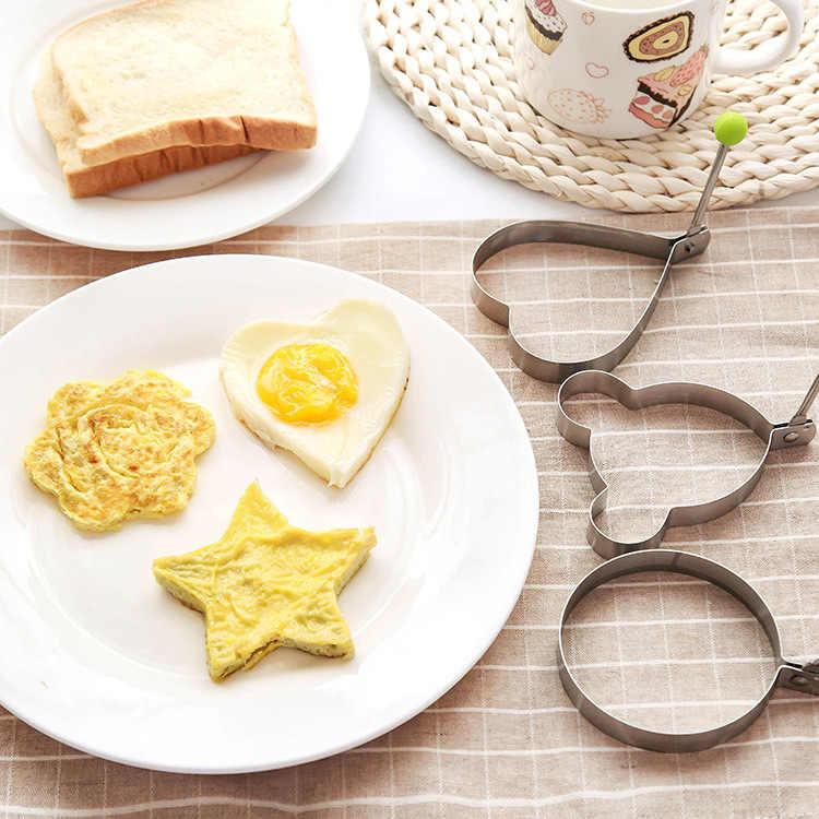 Aço inoxidável fried ovo shaper molde panqueca molde cozinha cozinhar ferramentas