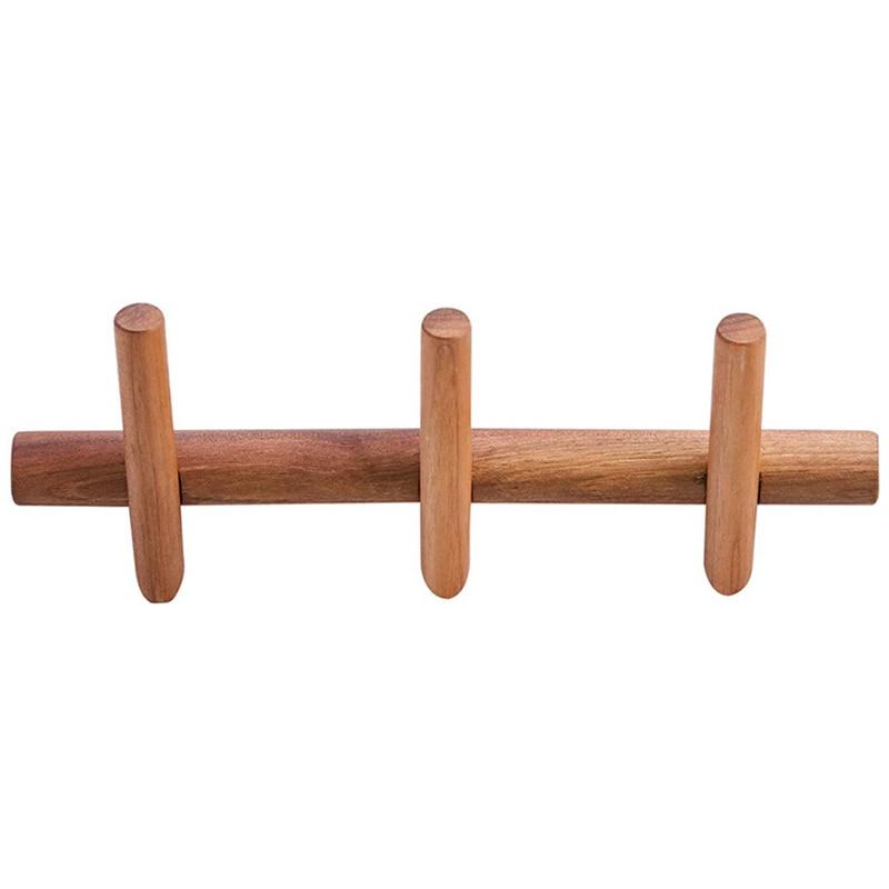 Best Wood Coat Rack Wall Mounted Wall Rack with Hooks Hat Rack Towel Hanger Wood Wall Hooks Hanger with Pegs Entryway Bedroom Ba|Hooks & Rails| |  - title=