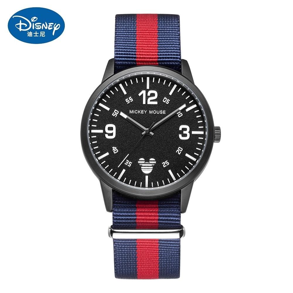 Disney Fashion Boys Watches Top Brand Luxury Quartz Watch Kids Casual Slim Nylon Strap Waterproof Sport Watch Relogio Masculino