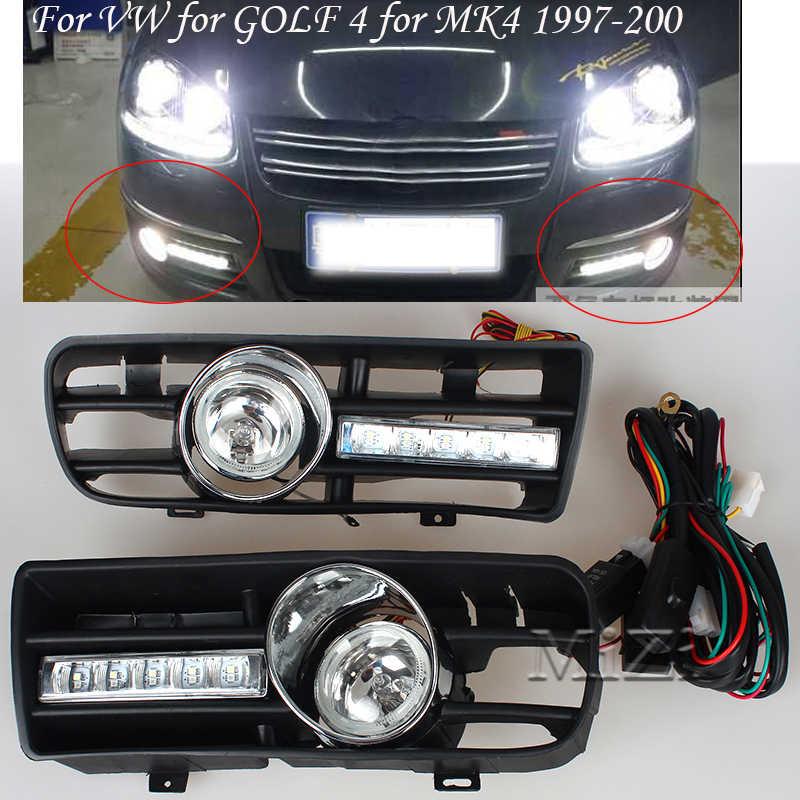 Gündüz farları sis Lighst lambası dönüş sinyali alt izgara oto yarış izgaralar VW GOLF 4 için MK4 1997-2006