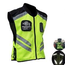 Moto светоотражающий жилет куртка мотоцикла безопасности жилет Предупреждение Костюмы, чтобы вы были заметны жилет командная форма Внедорожный гоночный жилет