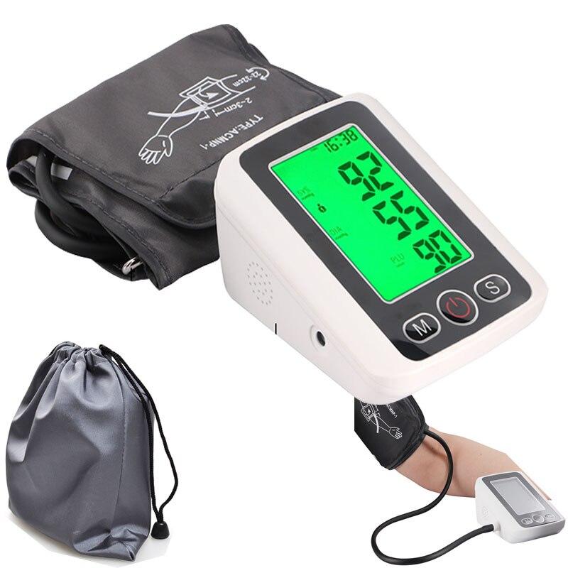 Blutdruckmessgerät Tonometer Puls messung werkzeug Arm Blutdruck Monitor Meter Herz Schlagen heimgebrauch manschette Gesundheit Pflege Maschine