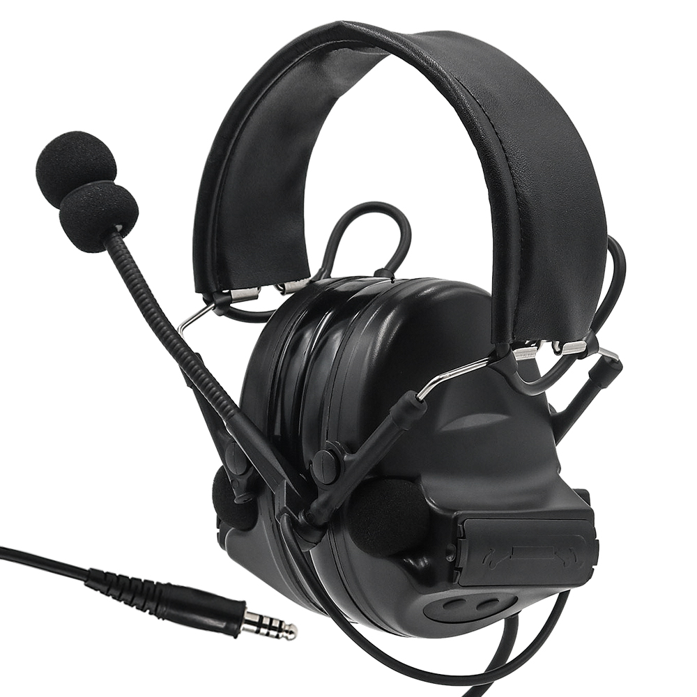 Tactical Headset Airsoft Comtac II Headset Noise Canceling Headphone earphone BK