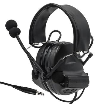 Tactical Headset Comtac II Active Noise Canceling Pickup earphone Airsoft Military Headset tactical shooting Earmuffs BK цена 2017