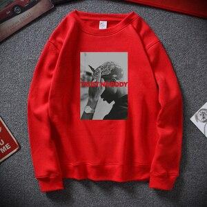 Image 4 - Nieuwe Winter Moletom Tupac 2 Pac Shakur Vertrouwen Niemand Grappige Mannen Vrouwen Unisex Sweatshirt Hoodie Top Katoen Fleece Sudadera Hombre