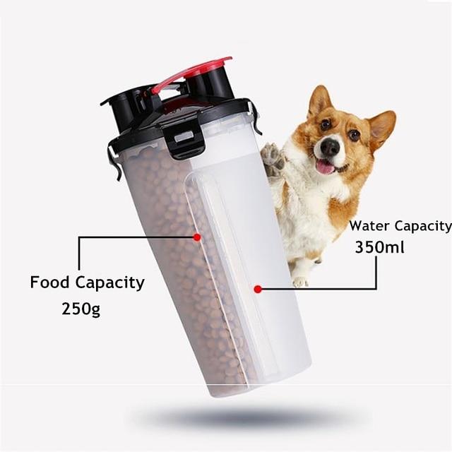 Dog 2 In 1 Pet Travel Water Bottle  3
