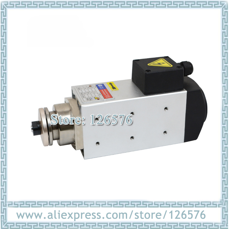 air cooled blade spindle motor 1.1kw 12000rpm square shape 25.4mm shaft spindle motor for wood/glass/plastic|Machine Tool Spindle| |  - title=