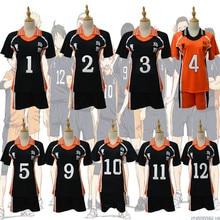 9 stili Haikyuu Costume Cosplay Karasuno Liceo Volleyball Club Hinata Shyouyou Sportswear Maglie Uniforme