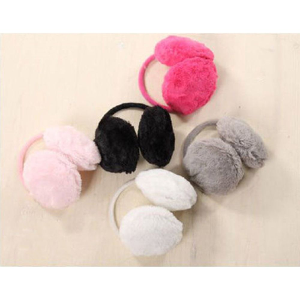 Fashion New Colorful Earmuffs For Women Winter Earmuffs Warm Fur Ear Warmer Ear Cover Solid Color Cute Soft Plush Ear Warmer