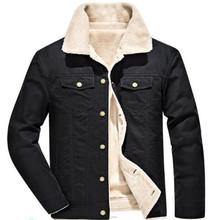 2020 bawełna zimowa męska kurtka bawełniana kurtki zimowe oraz aksamitna gruba bawełniana kurtka młodzieżowa koszula w dużym rozmiarze tanie tanio COTTON REGULAR Wełna liner Pojedyncze piersi Szczupła Przycisk 1 00 W stylu Safari Skręcić w dół kołnierz Casual