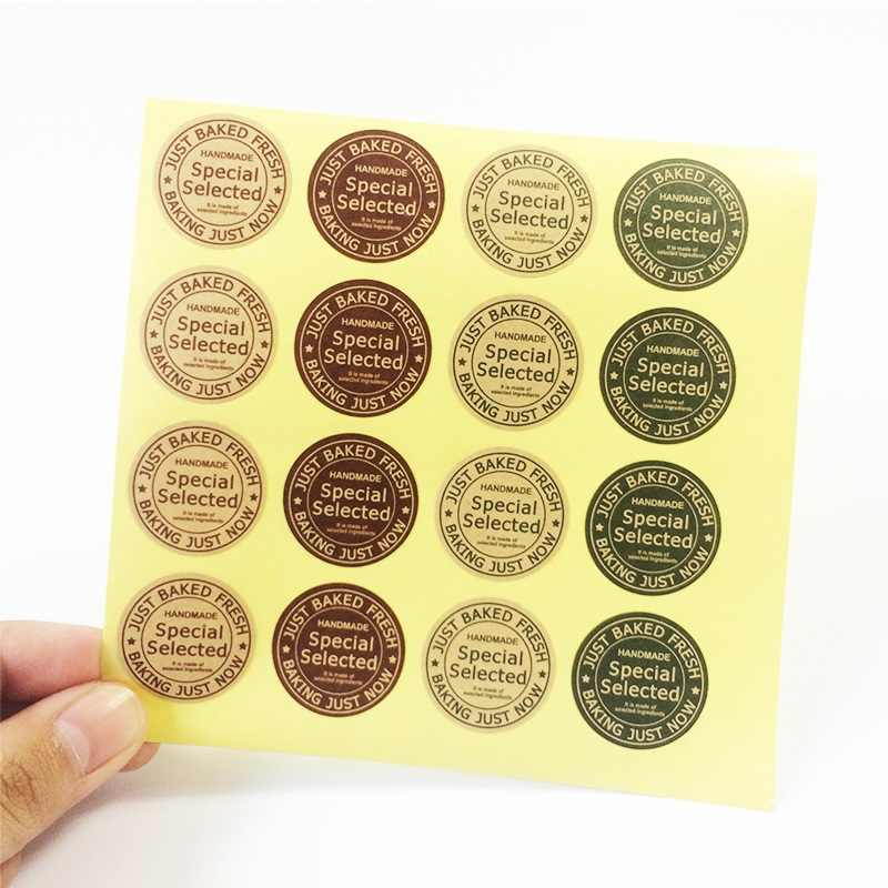 160 Pcs/lot Special Selected Handmade Stickers Kraft Label Sticker DIY Just Baked Fresh For Gift Cake Baking Sealing Sticker