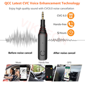 Image 3 - Bluetooth Receiver APTX LL 3.5mm AUX Jack RCA Wireless Adapter & Mic Handsfree Call Car Transmitter Bluetooth 5.0 Audio Receiver