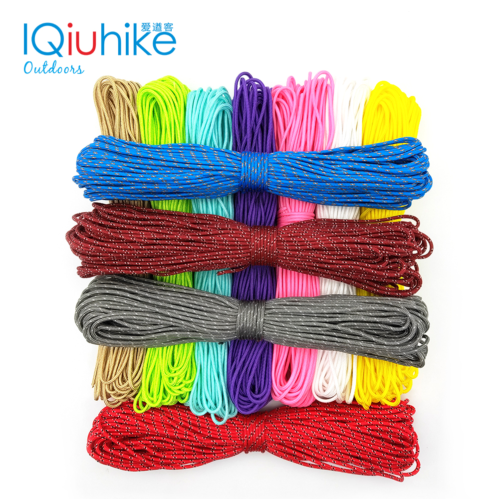 100 Colors Paracord 2mm 25FT 50FT 100FT Rope 1 Strand Paracorde Outdoor Survival Equipment Clothesline DIY Bracelet Wholesale