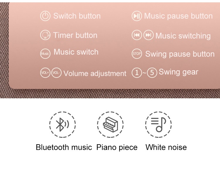 Hfb0e987e0997407586a418bc2613cd08D Baby Electric Rocking Chair Bluetooth Remote Artifact Newborn Baby Sleeping Basket with music Kids Swing cardle 0-36month
