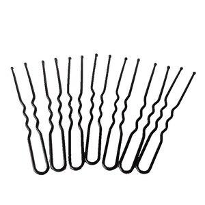 50Pcs Black U Style Hair Pins Wedding Photo Invisible Hair Clip Bride Wave Hairpins Hair Accessories For Women Hair Style Tools