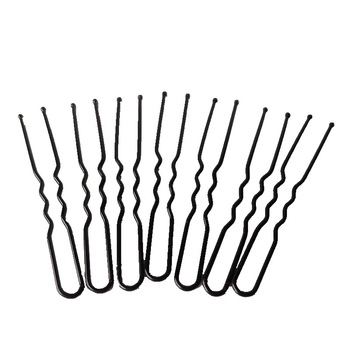 50Pcs Black U Style Hair Pins Wedding Photo Invisible Clip Bride Wave Hairpins Accessories For Women Tools