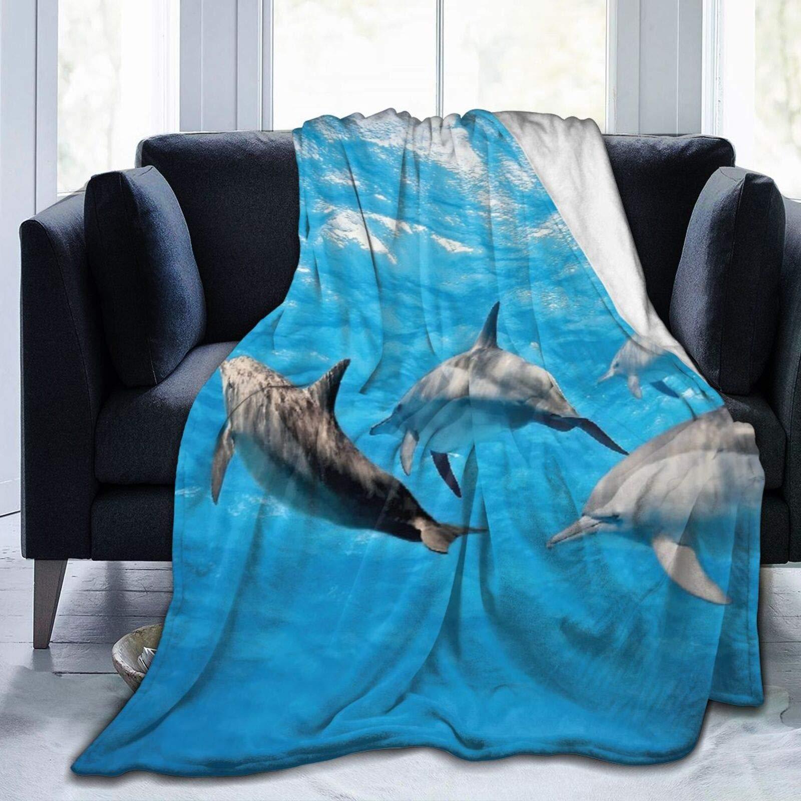 Мягкий коралловый флис покрывало домашний декор Дельфин для подводной съемки с дельфинов счастливо Ocean животных жизнидля для детей