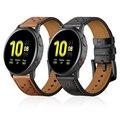 Кожаный ремешок для часов samsung Active 2 ремешок для Galaxy Watch 46 мм 42 мм/gear Sport/S3 Сменные аксессуары Correa