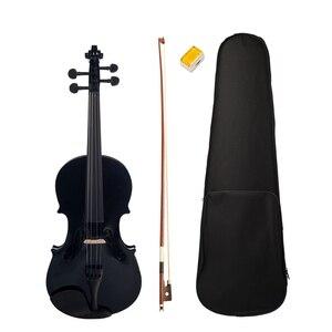 4/4 Black Maple Violin with Ba