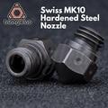 Trianglelab Swiss MK10 закаленная стальная насадка PTFE для микро швейцарского Hotend M7 резьба Wanhao FlashForge qidi Tech Dremel