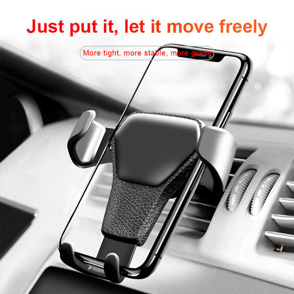 Gravity Car Mobile Phone Holder Air Vent Mount Stand Universal In Car Smartphone Cell Support Phone Holder For Iphone X Samsung in Phone Holders Stands from Cellphones Telecommunications