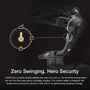Image 5 - Zhiyun Crane 3S 3 Axis Handheld Gimbal Stabilizer for DSLR Cameras and Camcorder, 6.5kg Payload, Extendable Roll Axis