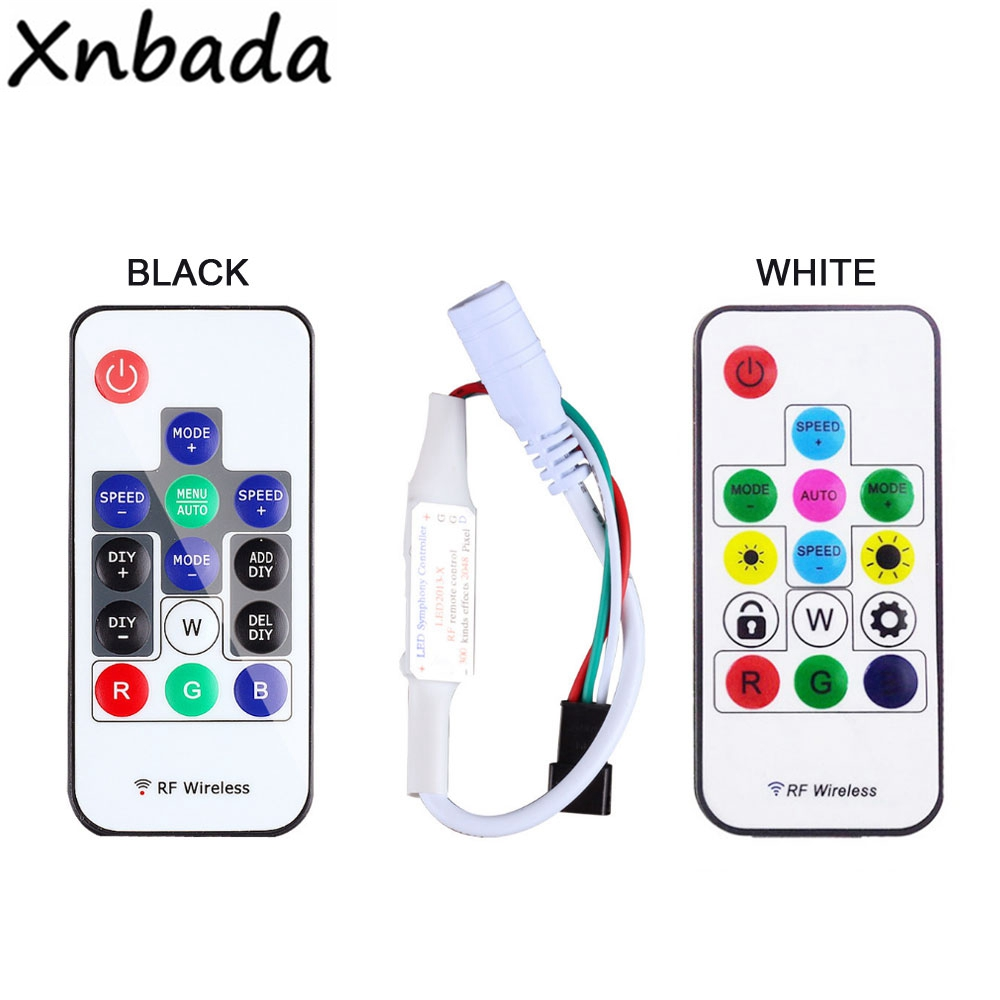 Led Strip Light WS2812B WS2811 SK6812 RGB Led Controller;14keys RF Wireless Remote Controller DC5-24V
