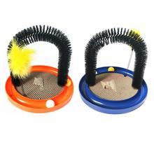 Cat Scratcher Grooming Pet Arch Hair Toy Self-Groomer Massage Scratching Scratches Brush