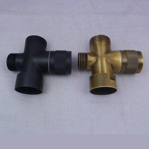 Image 3 - Antiqued Brons Water Splitter Douche Kraan Drie Way Water Klep Water Separator Sproeikop Schakelaar Een Twee gezamenlijke Converter