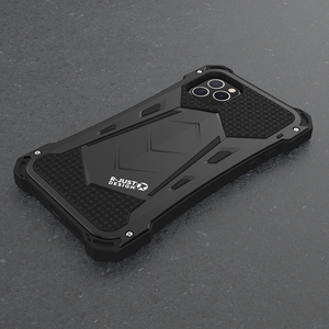 Image 3 - R JUST For IPhone 11 11Pro Max Luxury Doom Armor Duty Shockproof Metal Aluminum Phone Cases For IPhone 11 Pro max XS XR 7 8 plus